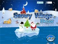 snowy village decor